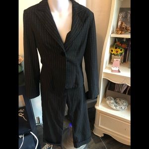 Fredericks of Hollywood cropped pinstripe suit